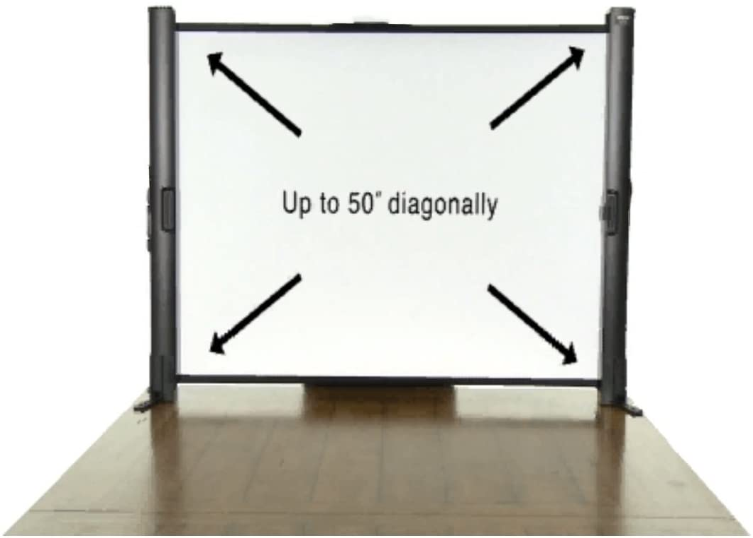 Epson ES1000 Ultra Portable Tabletop Projection Screen (V12H002S4Y),Black Case