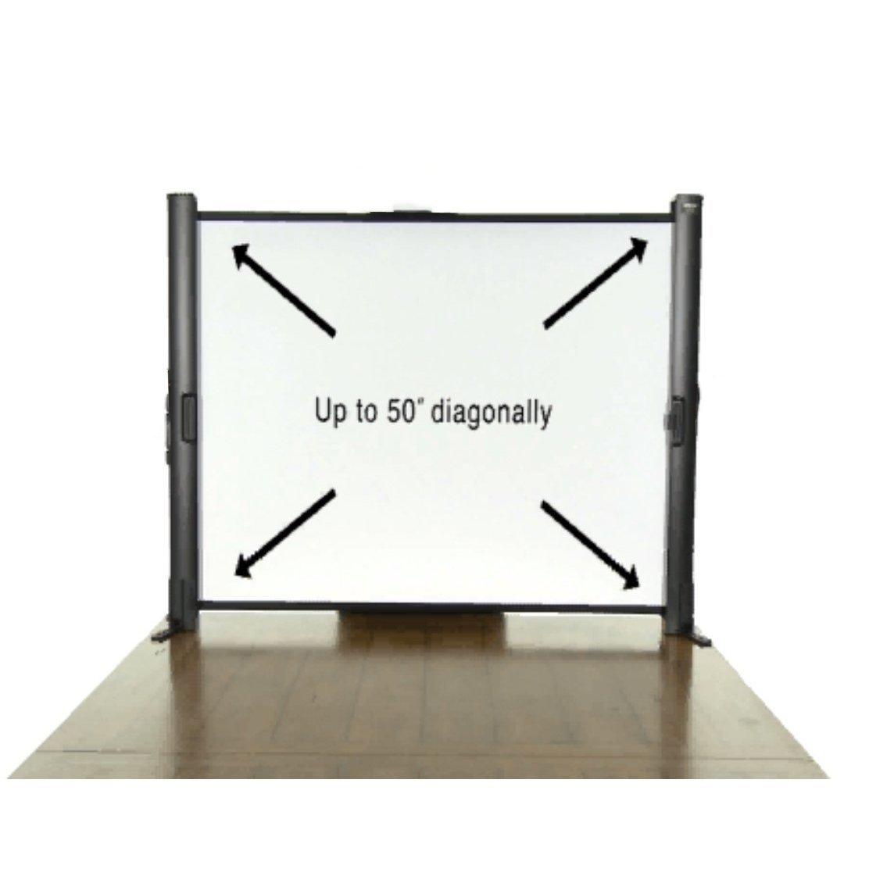 Epson ES1000 Ultra Portable Tabletop Projection Screen - Projection screen - 50 in ( 127 cm ) - 16:9 / 4:3 - BriteWhite - for Epson EB-1750, 1760, 1770, 1775, S9, EX-3200, 5200, 7200, Offiri   B004OBYYWG