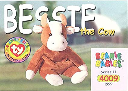 Amazon.com  TY Beanie Babies BBOC Card - Series 2 Common - BESSIE ... 6aa0ac027db