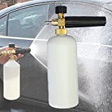"MATCC Adjustable Foam Cannon 1 Liter Bottle Snow Foam Lance With 1/4"" Quick Connector Foam Blaster for Pressure Washer Gun"