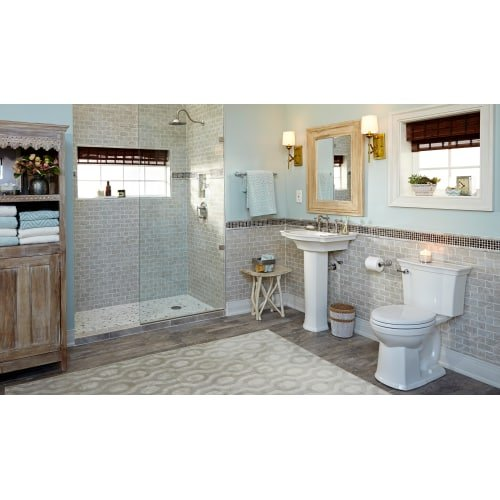 American Standard 4570A.104 Estate 1.28 GPF Toilet Tank Only for Two-Piece, Linen