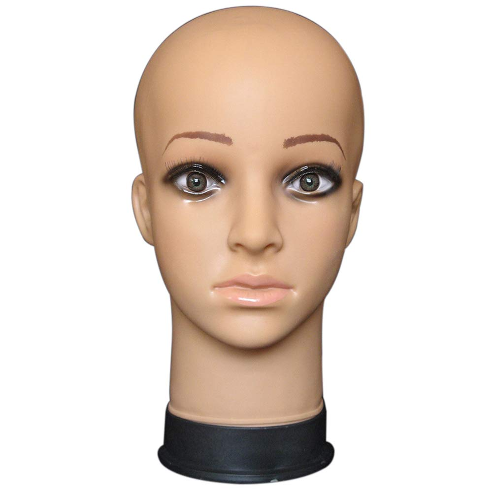 YHCWJZP Mannequin Head for Wigs,Training Head,PVC Head Mannequin Mainkin Head for Wig Making Drying Styling Stand Cap Display Holder 2#