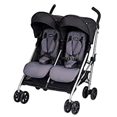 "The compact Evenflo Minno Twin Double Stroller makes it easy to take both babies along for the ride. It's compact fold and narrow design offers parents a hassle-free solution for running errands or strolling in the park. At only 27"" wide, it ..."