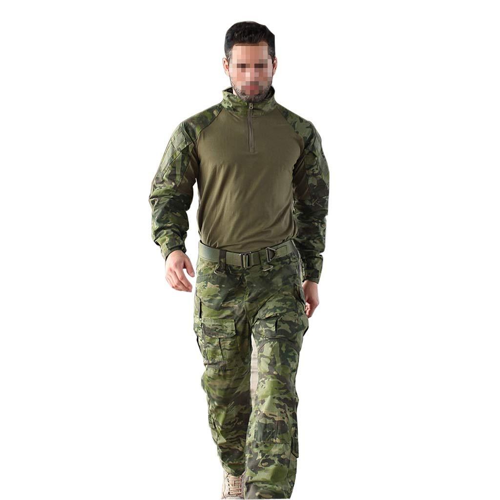 新着 グリーンカモフラージュトレーニングスーツ :、耐摩耗性の快適な通気性の長袖シャツとマルチポケットのズボン戦術服ジャングル隠し狩猟スポーツ登山乗馬 (サイズ さいず さいず : XL) XL B07PCRR3PP B07PCRR3PP, 楽天Edyオフィシャルショップ:864c6b27 --- arianechie.dominiotemporario.com