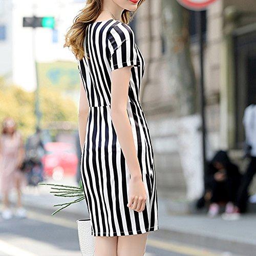 Knee Damen Seide Übergröße Long DISSA Kleider Flowered S9957 Kleid Abendkleid Weiß Cocktail 5txfgqf