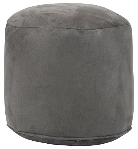 American Furniture Classics Pouf Ottoman, Grey by American Furniture Classics