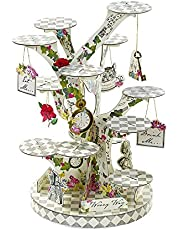 Talking Tables Alice In Wonderland Party Supplies   Cupcake Stand Centrepiece   Great For Mad Hatter Tea Party, Birthday Party And Baby Shower   Paper