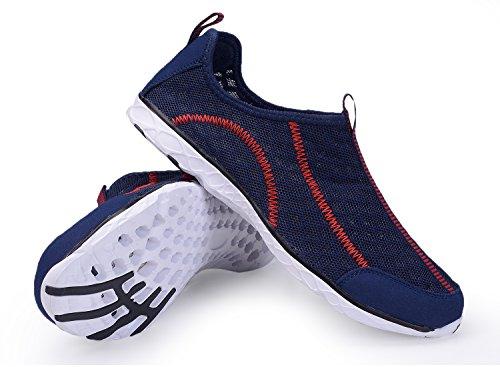 Leichte leichte athletische schnell trocknende Netz-Aqua-Beleg-Aufwasser-Schuhe der A-PIE-Frauen Marine-1