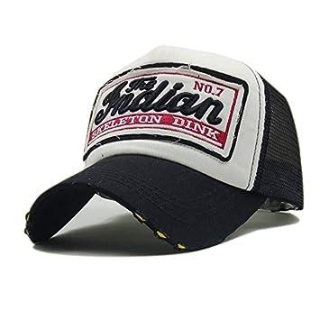 SLGJ Rebelde Negro Gorra de béisbol de Verano Tapa de Malla Bordados Sombreros para Hombres Mujeres Sombreros Gorras Snapback Caps Hip Hop Casual: ...