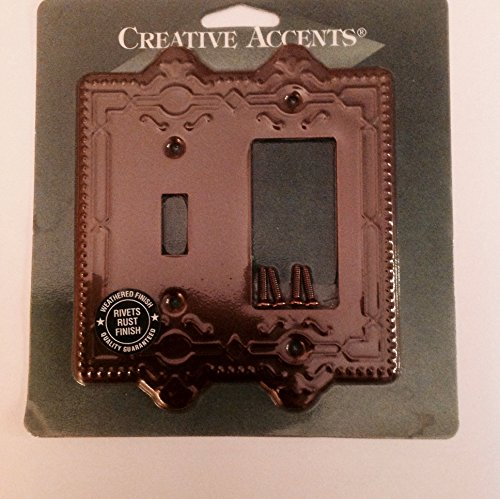 Creative Accents Wall Plate (Creative Accents 1-Gang Rust GFCI Combination Wall Plate)