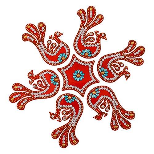 AMBA HANDICRAFT Rangoli/Home Decor/Diwali / Gift for Home/Interior Handcrafted/Floor Stickers/Wall Stickers/Wall Decoration/Floor Decoration/New Year Gift/Party. Rangoli 2