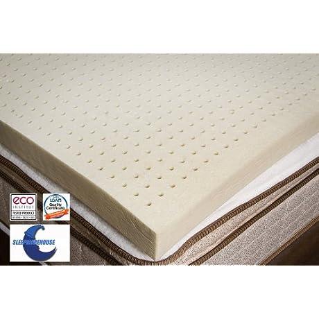 100 Natural Latex Foam Mattress Toppers 4 Soft By SleepWarehouse Queen 4 Soft