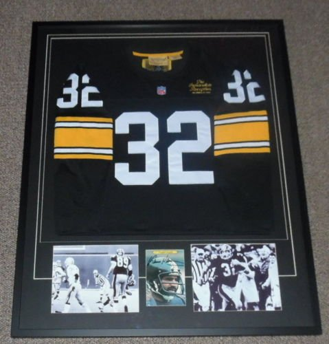 - Franco Harris Signed Framed Immaculate Reception Jersey & Photo Display PSA/DNA
