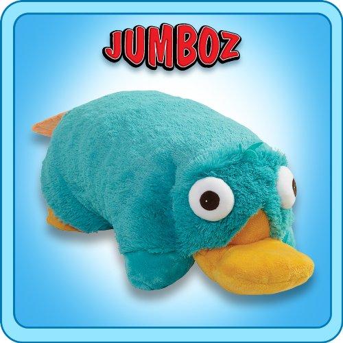 Pillow Pets Jumboz Phineas and Ferb Pillow Pet - 30'' Jumbo Perry the Platypus Stuffed Animal Plush
