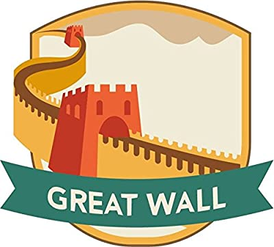 "China Great Wall World City Travel Label Badge Sticker Decal Design 5"" X 5"""
