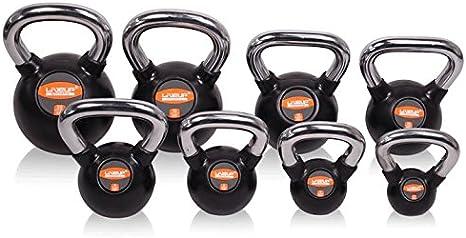 LS 2044-16 Kettlbell kg Steel Handle Rubber Coating 16 kg: Amazon.co.uk:  Sports & Outdoors