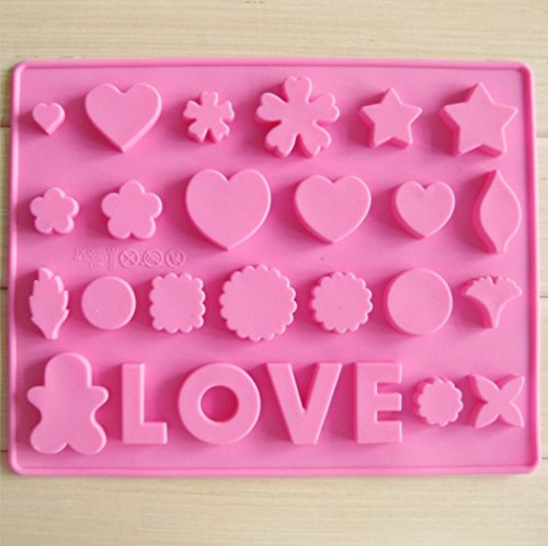 Heart-shape LOVE Silicone Ice Chocolate Cake Jelly Candy Mould Mini Tray Pan - Face Heartshape