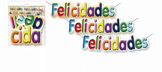 CARTEL FELICIDADES 65CM: Amazon.es: Hogar