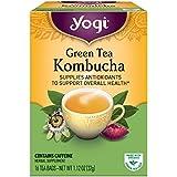 Yogi Tea, Kombucha Green Tea, 16 Count (Pack of 6), Packaging May Vary