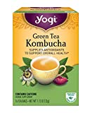 Yogi Tea, Kombucha Green Tea, 16 Count (Pack of 6)