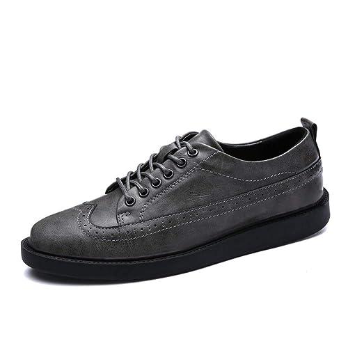Zapatos Brogue de Hombre Zapatos de Cordones de Cuero de Primavera Verano Hombres Zapatillas de Deporte Hombre cómodo Calzado Formal: Amazon.es: Zapatos y ...