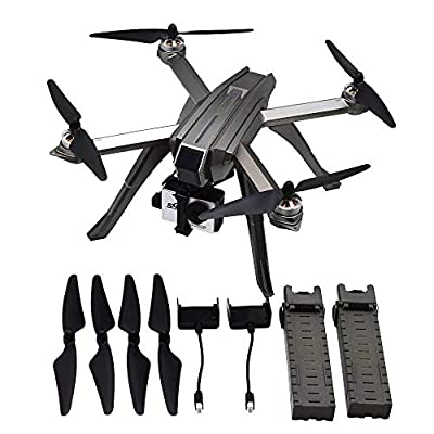 Blomiky MJX B3 Bugs3 Pro GPS Brushless RC Quadcopter Drone with C6000 5GHz WiFi FPV 1080P FHD Camera Support 4K Action Camera Bonus Battery B3P Grey