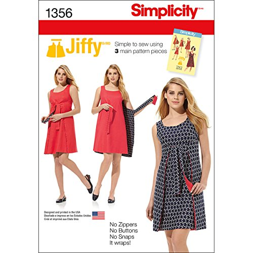(Simplicity 1356 Easy to Sew Women's Reversible Wrap Dress Sewing Pattern, Sizes 6-14)