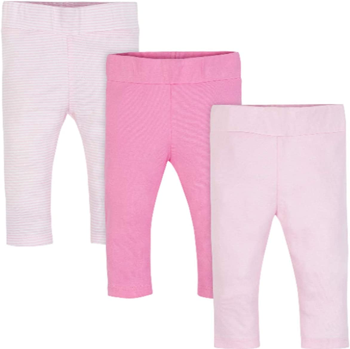 Wonder Nation Baby Girl 3-Pack Pink Pants Size 0-3M