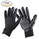 Pet Grooming Gloves, JARAGAR 1 Pair Pet Brush Glove Hair Mitt Glove Massage Glove Hair Removal Mitts Left & Right Five Finger Design for Grooming Bathing Shedding Combing and Massage for Dogs/Cats/Horse