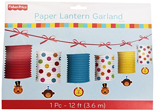 Costumes Ideas For Circus Theme (Fisher Price 1st Birthday Circus Paper Lantern Garland (12ft))