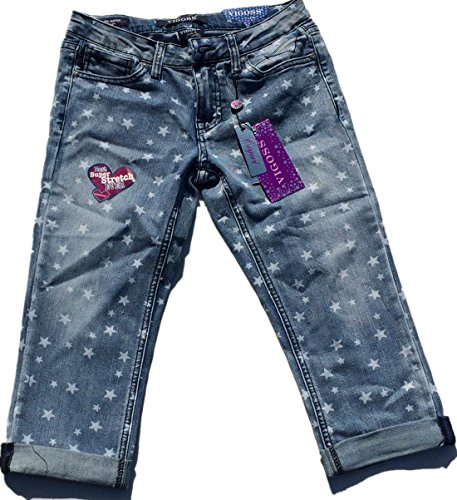 Vigoss Girls' Waistband Adjustable Crop Pant, Size 14 (Roll Crop Waist Pant)