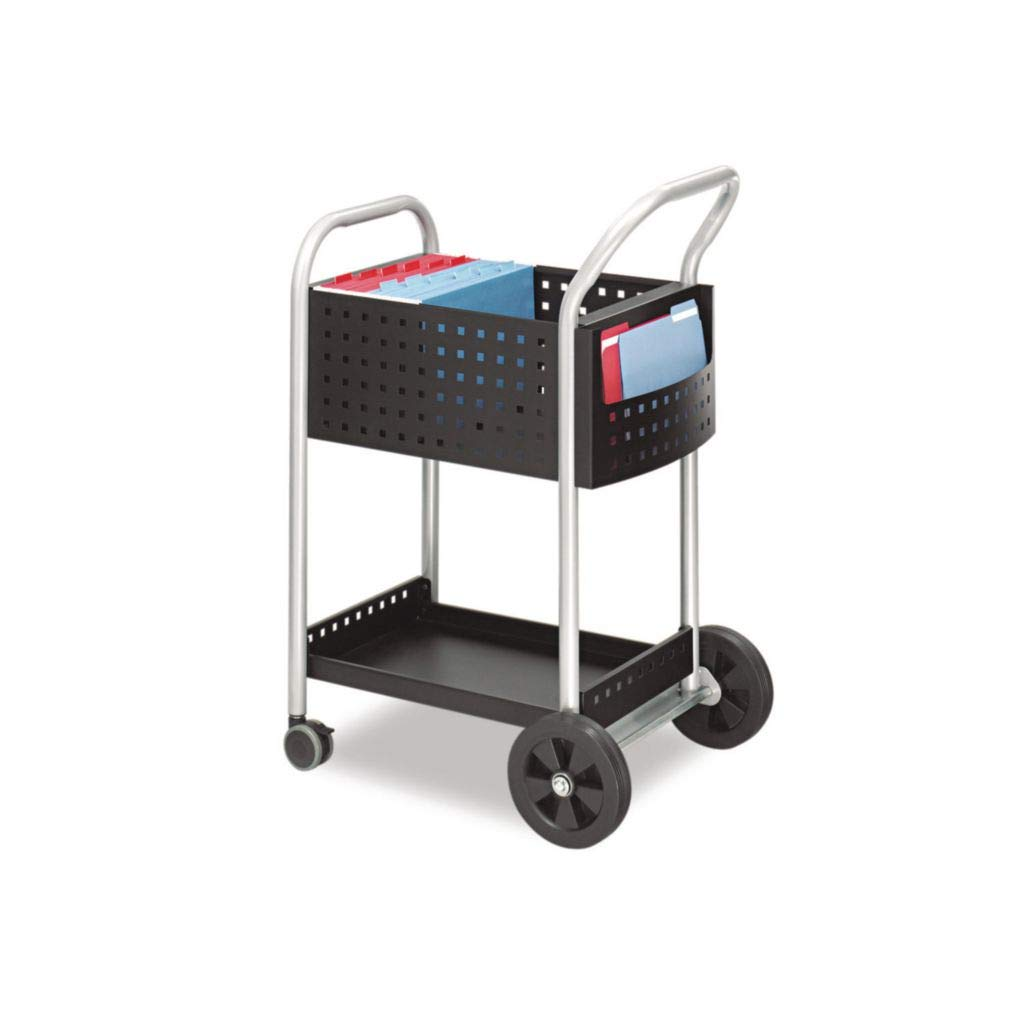 SAF5239BL - Material : Steel - Safco Scoot Mail Cart - Each