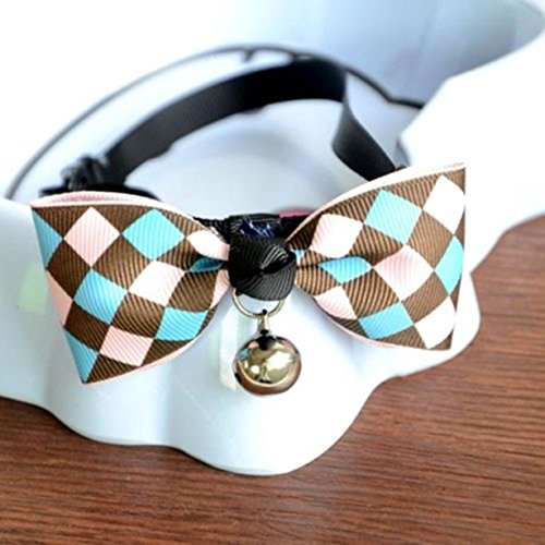 1 Set Multi Colors Bell Necktie Pet Collar Dog Dogs Cats Bowtie Bow Tie Soft Elastic Tag Paramount Popular Small Extra Large Wide Reflective Safety Breakaway Training Camo Kitten Collars, Type-08