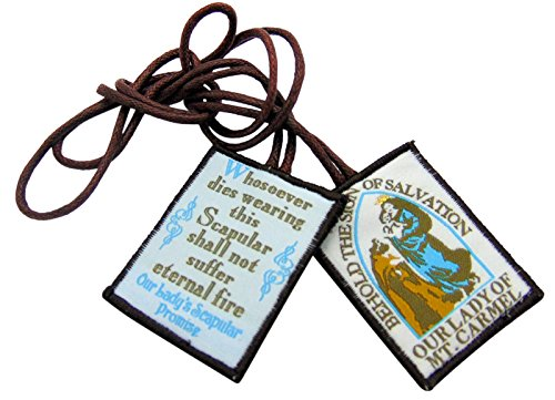 JWG Industries Traditional Catholic Brown Scapular our Lady of Mount Carmel