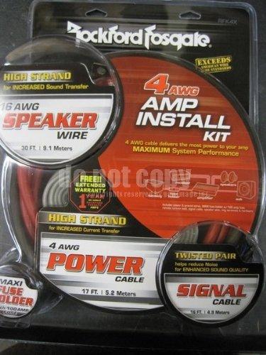 4 Awg Amplifier Kit - Rockford RFK4X 4 AWG Complete Amplifier Install Kit