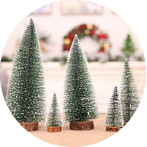 (Christmas Tree A Small Pine Tree Placed in The Desktop Mini Christmas Decoration for Home)