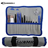 SUNMALL 16 PCS Professional Opening Pry Tools Kit with screwdriver Repair Tools set for IPad , IPhone, PC, Watch, Samsung and Other Smartphone , Tablet, Computer, and other Electronic Devices