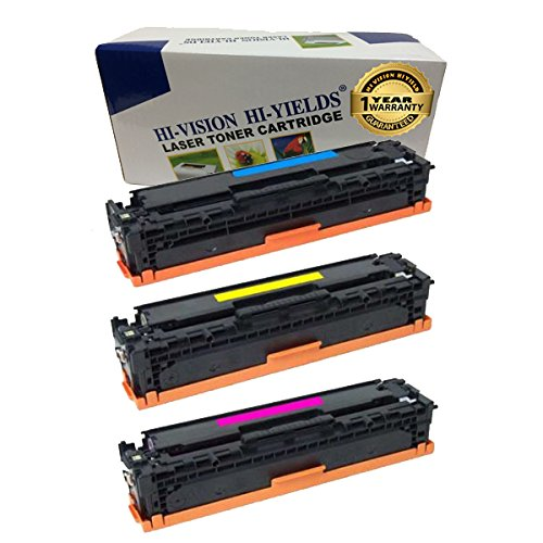 3 Pack CE411A CE412A CE413A 305A Color Toner Set for HP LaserJet M451dn M451nw