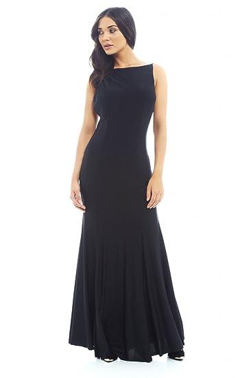 b3589c79b6 AX Paris Women s Scoop Back Fish Taleslinky Maxi Dress(Black