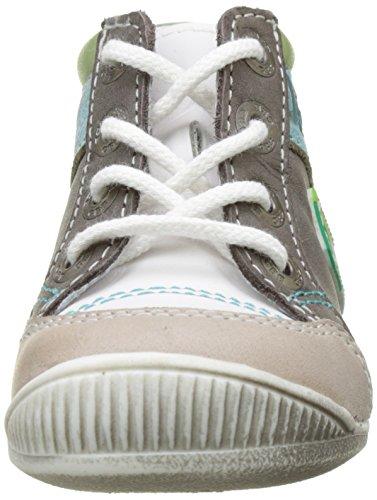 GBB Pancrace - Zapatos de primeros pasos Bebé-Niñas Marron (Vtu Blanc Vert Dpf/Raiza)