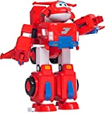 Super Wings - Jett's Super Robot Suit Large Transforming Toy Vehicle | Includes Jett | 5' Scale