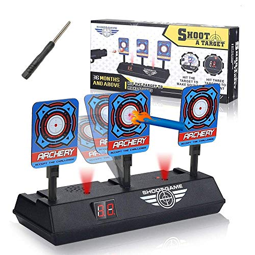 Rivvi Compatible for Nerf-Targets-for-Shooting for Kids, Auto Reset Digital Target Accessories Compatible for Nerf-Guns-for-Boys Rival Zombie Strike Modulus Sniper Mega Elite as Christmas Toys Gifts (Target For Gun)