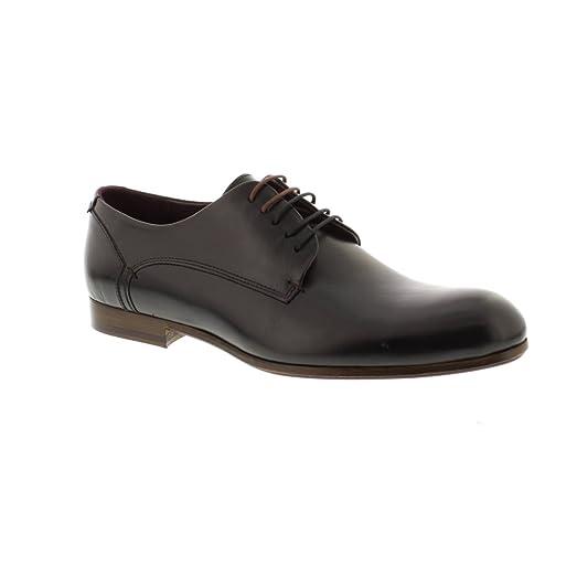 Avionn - Black Leather Mens Shoes