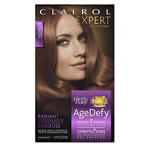 Clairol Age Defy Expert Collection, 6R Light Auburn, Permanent Hair Color, 1 Kit (PACKAGING MAY VARY)
