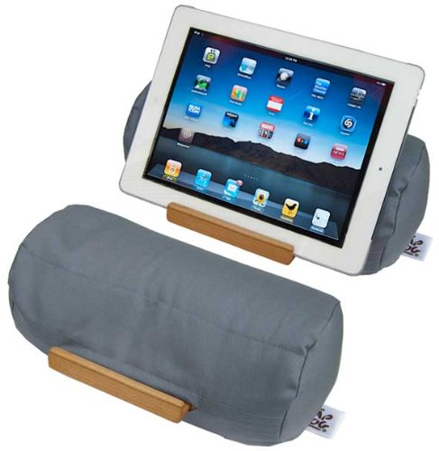 Lap Log – Soft Beanbag Tablet Stand – Ocean Grey – Perfect for Tablets of All Sizes Plus eReaders and Smartphones. Adjustable to Any Angle and Stable on All Surfaces. Ranked Highest on Amazon in Customer Satisfaction. Made in the USA from Sustainable Materials., Best Gadgets