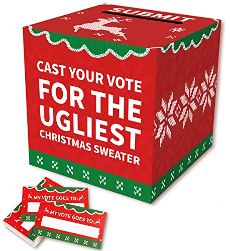 Ugly Sweater Ballot (Ugly Sweater Contest Ballot Box Voting Cards - Christmas Xmas Holiday Party)