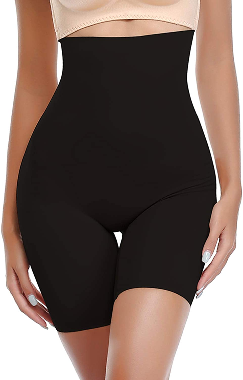 SLIMBELLE Shaper High Waist Tummy Control Panties for Women Shorts Seamless Thigh Slimmer Slip Shorts Butt Lifter Shapewear