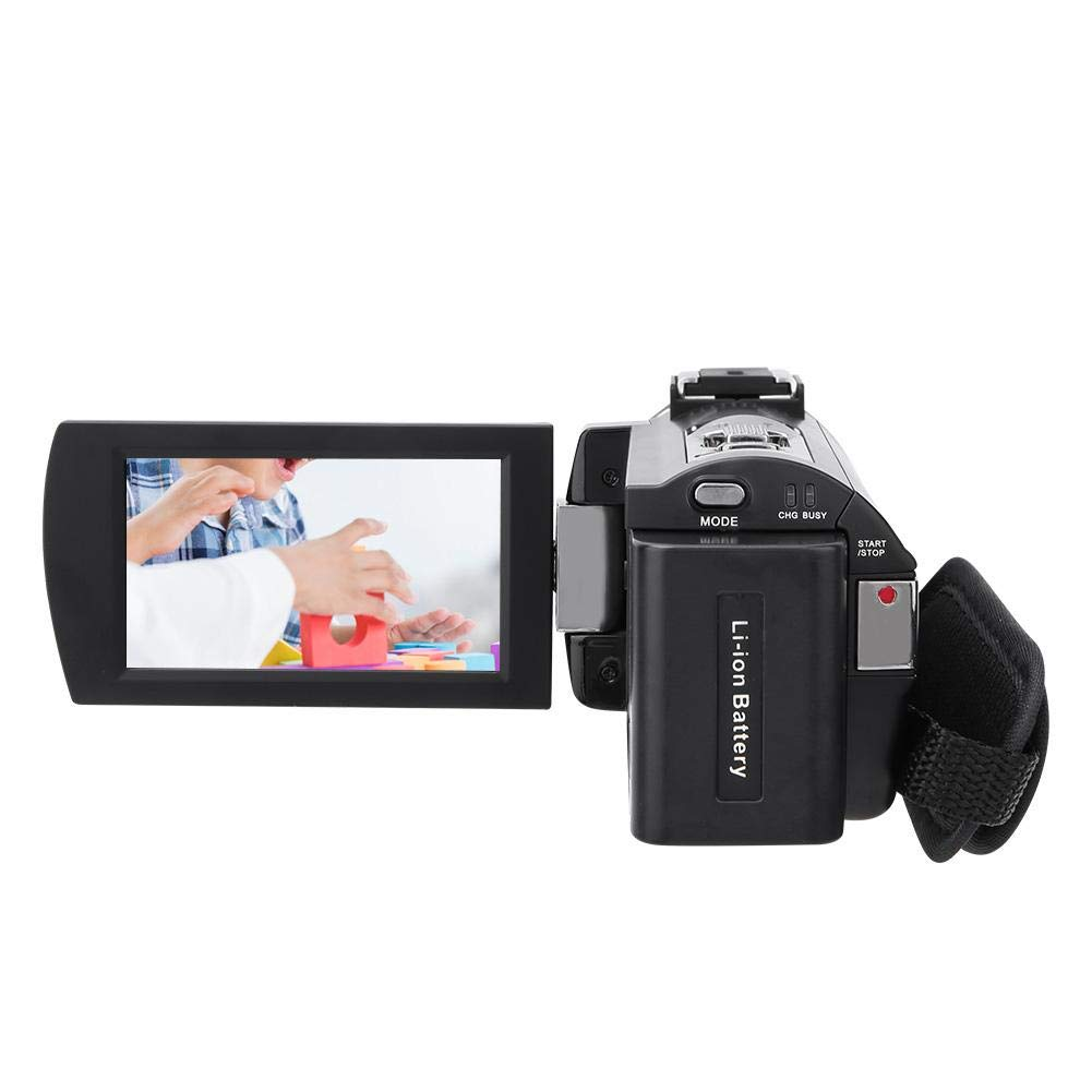V BESTLIFE Videoc/ámara c/ámara Digital 4K HD con Pantalla t/áctil 3.0 Pulgadas WiFi c/ámara de Video con Zoom Digital 16X Soporte de rotaci/ón de 270 Grados Visi/ón Nocturna con bater/ía