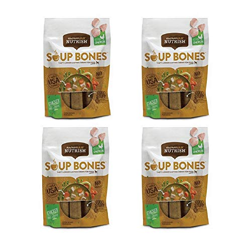 Rachael Ray Nutrish Soup Bones Dog Treats, Real Chicken and Veggies (4 Pack, Real Chicken & Veggies) For Sale