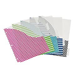 Avery Big Tab Insertable Plastic Dividers with Pockets, 5 Tabs, 1 Set, Assorted Fashion Designs (07708)